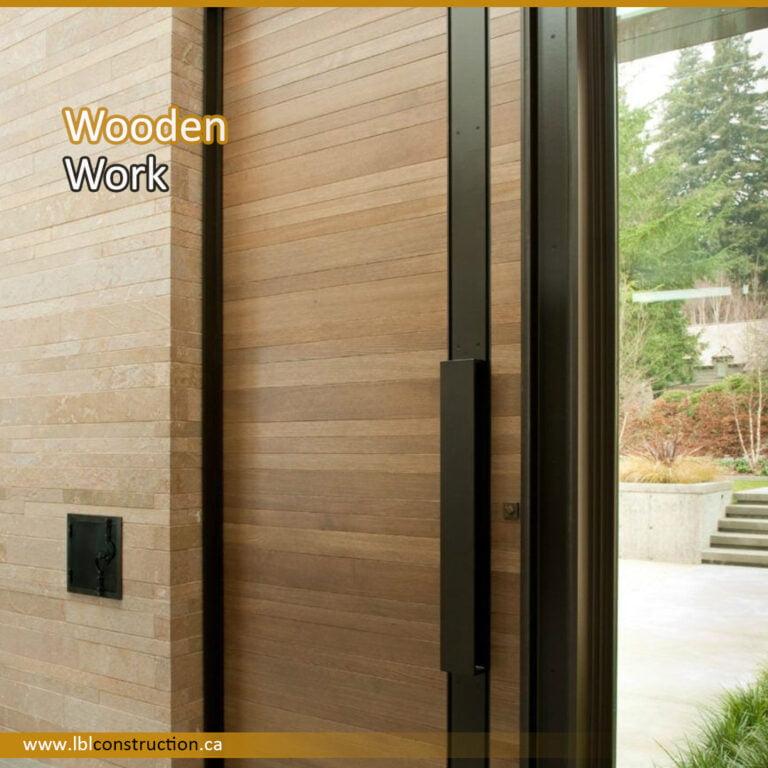 Wooden Door Decoration