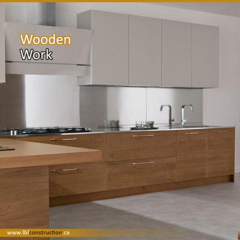 Wooden Kitchen Structure