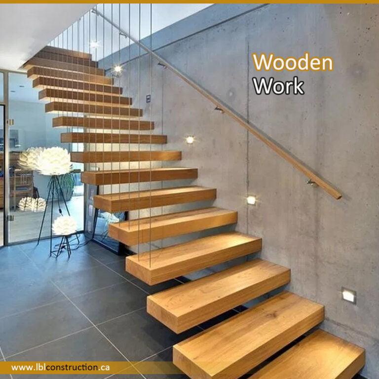 Wooden Stair Decor