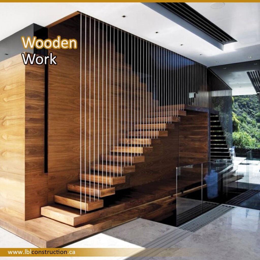 Wooden Stair Decoration